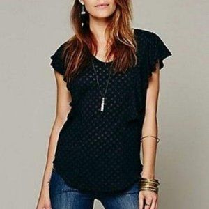 Free People We The Free Spot Ruffle Tee We The Fre